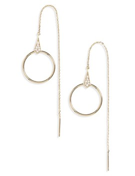 Circle Threader Earrings by Panacea