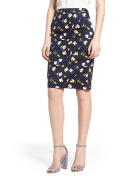 Martha Floral Pencil Skirt by Boden