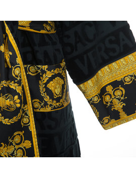 Barocco&Robe Bathrobe   Blue by Versace Home