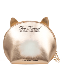 Gold Cool Not Cruel Bunny Makeup Bag by Too Faced