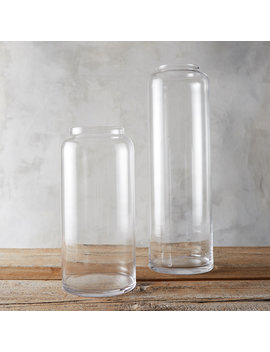 Glass Column Vase by Terrain