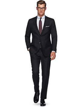 Sienna Black Plain by Suitsupply