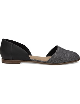 Black Leather Chambray Women's Jutti D'orsay Flats by Toms
