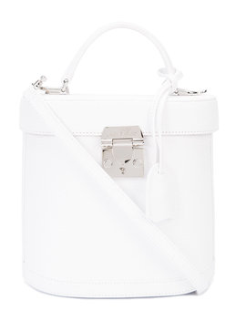 White 'benchley' Pebbled Bag by Shop Bazaar