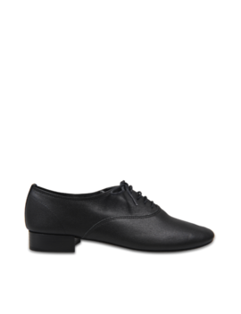 Zizi Lace Up Shoes In Black Goatskin by Monnier Frères