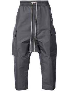 drawstring-cargo-cropped-trousers by rick-owens
