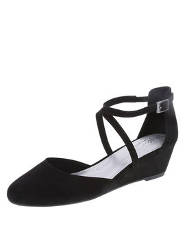 Women's Angie Cross Strap Wedge by Learn About The Branddexflex Comfort