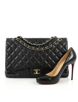 Chanel Classic Single Flap Bag Quilted Caviar Maxi by 1stdibs