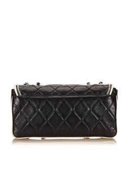 Chanel Black Quilted Leather East West Flap Bag by 1stdibs