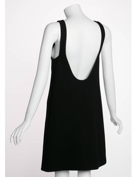 Prada Plunging Back Black Wool Mod Little Black Dress by 1stdibs