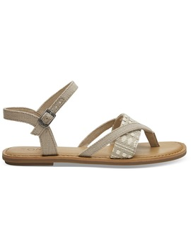 Oxford Tan Heritage Canvas Women's Lexie Sandals by Toms