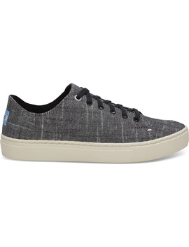 Black Textured Chambray Women's Lenox Sneakers by Toms