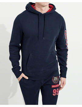 Embroidered Tiger Graphic Hoodie by Hollister