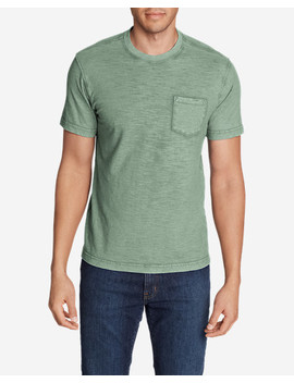 Men's Legend Wash Short Sleeve Slub Pocket T Shirt by Eddie Bauer