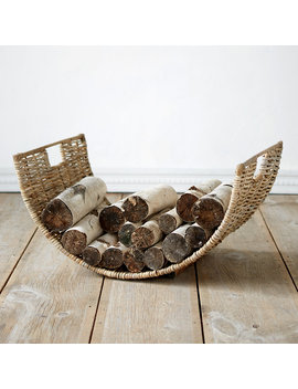 Half Moon Wicker Log Basket by Terrain