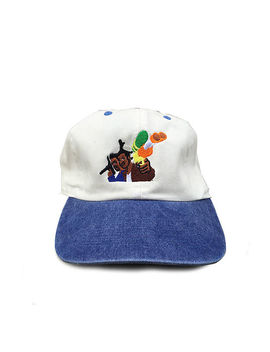 Don't Be A Menace Cap In 2 Tone Blue by 1st Class
