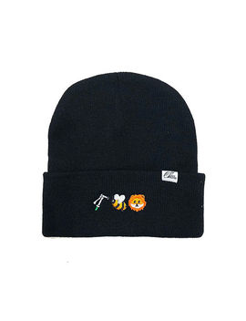 Hose Bee Lion Beanie In Black by 1st Class