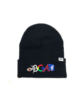 Eye D G A F Beanie In Black by 1st Class