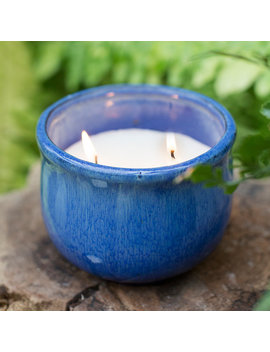 Citronella Candle In Ceramic Pot by Terrain