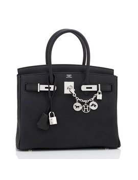 Hermes Black 30cm Togo Palladium Hardware A Stamp Birkin Bag by 1stdibs