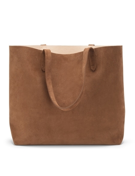 Suede Classic Structured Leather Tote by Cuyana