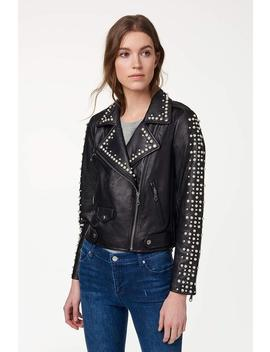 Wes Moto Jacket With Pearls by Rebecca Minkoff