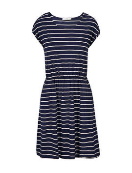 Extended Sleeve Striped Tee Shirt Dress by Ricki's