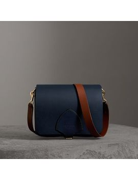 The Large Square Satchel In Leather by Burberry