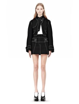 Cutaway Trench With Contrast Stitching by Alexander Wang