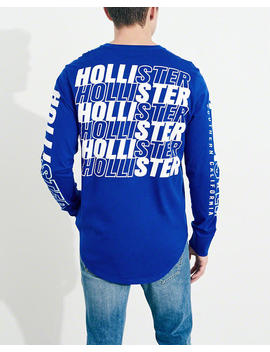Print Logo Graphic Tee by Hollister