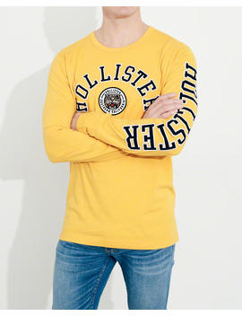 Varsity Logo Graphic Tee by Hollister