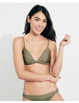 Ribbed Triangle Bikini Top by Hollister