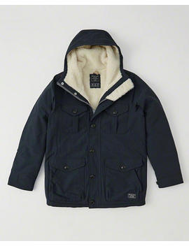 Sherpa Lined Trekking Parka by Abercrombie & Fitch