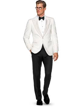 Lazio Off White Plain Dinner Jacket by Suitsupply