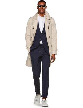Light Brown Trench Coat by Suitsupply