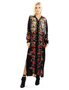 Aratta Women's Black Meadow Of Flowers Maxi Dress by Aratta