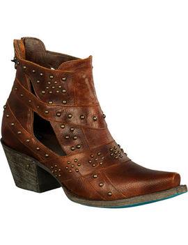 Lane Women's Brown Studs &Amp; Straps Fashion Boots   Snip Toe by Lane
