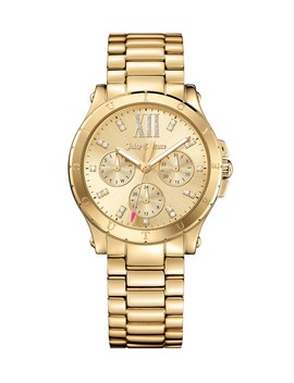 Gold Hollywood Watch by Juicy Couture