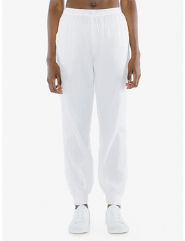 Unisex Crinkle Nylon Team Pant by American Apparel