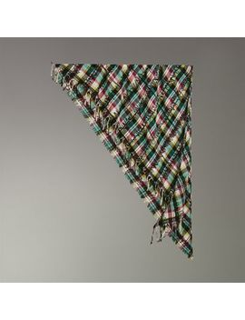 The Burberry Bandana In Scribble Check Cotton Silk by Burberry