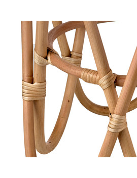 Rattan Paperclip Stool   Natural by Amara