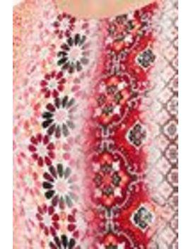 Red Embellished Tile Print Shift Dress by Wallis
