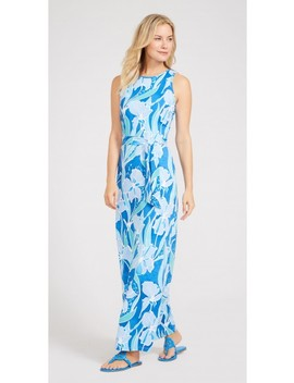 Charlene Maxi Dress In Pacific Pansy by J.Mc Laughlin