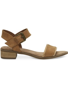 Tan Leather Women's Camilia Sandals by Toms