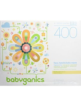 babyganics-face,-hand-&-baby-wipes,-fragrance-free,-400-count-(contains-four-100-count-packs) by babyganics