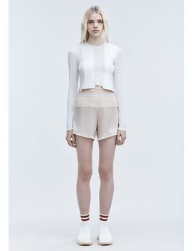 Satin Combo Shorts by Alexander Wang