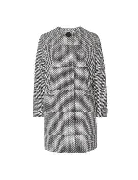 Yves Black And White Tweed Coat by L.K.Bennett