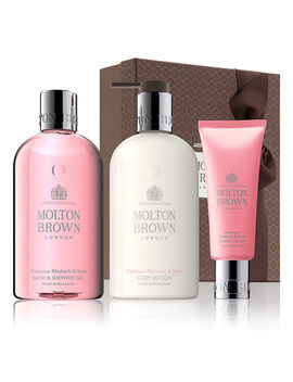 Delicious Rhubarb & Rose Pamper Gift Set by Molton Brown