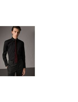 Slim Fit Stretch Cotton Shirt by Burberry