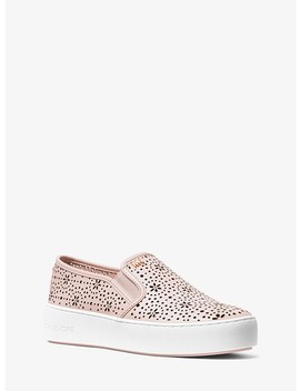 Trent Perforated Leather Slip On Sneaker by Michael Michael Kors